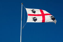 sardinia Bandeira a enrolar Imagem de Stock Royalty Free