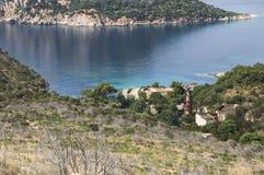 Sardinia Bay of Cala Moresca Royalty Free Stock Photo