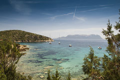 Sardinia Bay of Cala Moresca Royalty Free Stock Images