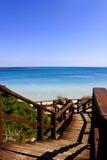 Sardinia beach. Beach of la pelosa, in north-west Sardinia,near Stintino and in front of the Asinara Island, Italy royalty free stock photo