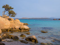 Spiaggia Capriccioli, Arzachena, Sardinia. Beautiful beach with turquoise sea and rocks in Arzachena, Sardinia, Italy Stock Image