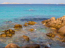 Spiaggia Capriccioli, Arzachena, Sardinia. Beautiful beach with turquoise sea and rocks in Arzachena, Sardinia, Italy Royalty Free Stock Photography
