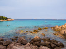 Spiaggia Capriccioli, Arzachena, Sardinia. Beautiful beach with turquoise sea and rocks in Arzachena, Sardinia, Italy Royalty Free Stock Photos