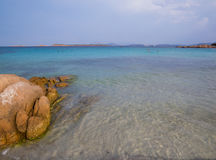 Spiaggia Capriccioli, Arzachena, Sardinia. Beautiful beach with turquoise sea and rocks in Arzachena, Sardinia, Italy Stock Photo