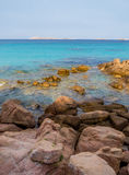 Spiaggia Capriccioli, Arzachena, Sardinia. Beautiful beach with turquoise sea and rocks in Arzachena, Sardinia, Italy Stock Photography