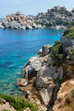 Sardinia beach, wonderful sea in Capo Testa. Italy royalty free stock image