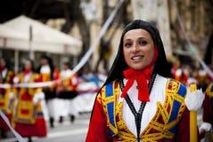 Sardinia Beauty.The festival av S.Efisio Royaltyfri Foto