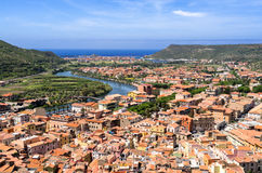 Sardinia, Bosa fotos de stock