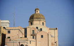 Sardinia.Cagliari. Cathedal kopuła Fotografia Royalty Free