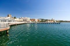 Sardinia, Cagliari, Ichnusa Pier Stock Photos
