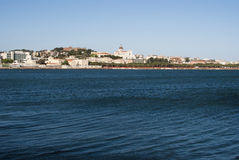 Sardinia. Cagliari panorama Royaltyfri Bild