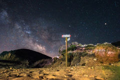 Sardinia Cala Domestica på natten royaltyfria foton