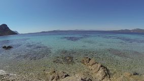 Sardinia Cala Moresca Figaroli island stock video footage