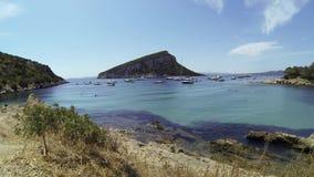 Sardinia Cala Moresca Figaroli island stock footage