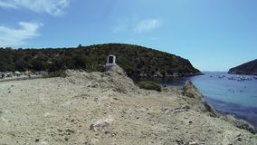 Sardinia Cala Moresca Figaroli island stock video