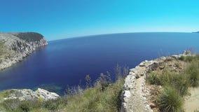 Sardinia Cala Moresca stock video footage