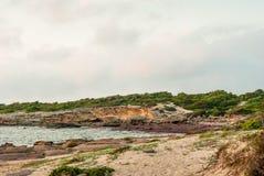 Sardinia, Calasetta beach Stock Images
