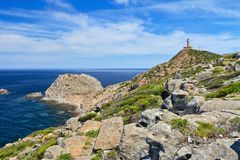 Sardinia - Capo Sandalo with lighthouse Stock Images