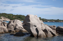 Sardinia capriccioli bay  whale rocks Stock Images