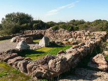 Sardinia. Carbonia. Monte Sirai Royalty Free Stock Photo