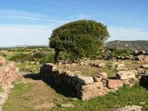 Sardinia. Carbonia. Monte Sirai Stock Images
