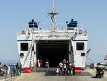 Sardinia. Carloforte. Ferryboat Royalty Free Stock Image