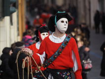 Sardinia carnival tradition with Issohadores and mamuthones mask Royalty Free Stock Image