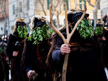 Sardinia carnival tradition with Issohadores and mamuthones mask Stock Image
