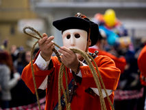 Sardinia carnival tradition with Issohadores and mamuthones mask Stock Images
