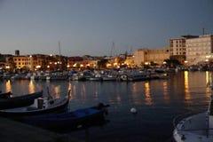 sardinia Cidades costeiras antigas Portoscuso video estoque