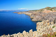 Sardinia -cliff in San Pietro Stock Images