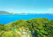 Sardinia coastline seen from Cala Dragunara Royalty Free Stock Image