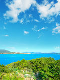 Sardinia coastline seen from Cala Dragunara Royalty Free Stock Photography