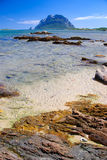 Sardinia coastline and Tavolara island Royalty Free Stock Photo