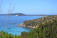 Sardinia coastline and Villasimius - Italy Royalty Free Stock Photo