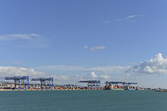 Sardinia commercial port container Royalty Free Stock Image
