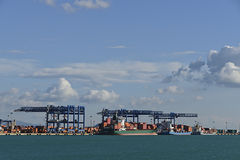 Sardinia commercial port container Stock Photo