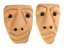 Sardinia Earthen Masks Stock Photo