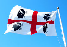 Sardinia flag Stock Photography