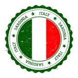 Sardinia flag badge. Royalty Free Stock Photo
