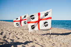 Sardinia flag Stock Images