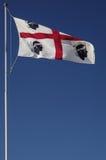sardinia Flagga som ska spolas Arkivbild