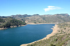 sardinia Flumendosa flod Royaltyfri Fotografi