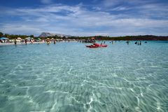 Sardinia, La Cinta, San Teodoro beach, in the province of Olbia stock image