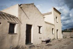 Sardinia. Gamla byggnader Fotografering för Bildbyråer