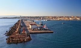 Sardinia - harbor in Porto Torres Royalty Free Stock Images
