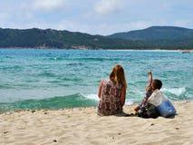 Sardinia hav och dam Fotografering för Bildbyråer