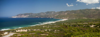 Sardinia. Iglesiente coast. Beautiful view of the south-west coast of Sardinia. In the recent past was the scene of intense mining activity. Today is popular Royalty Free Stock Photo