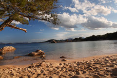 Sardinia island with beautiful beaches in Italy Stock Image