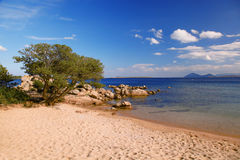 Sardinia island with beautiful beaches in Italy Royalty Free Stock Photo